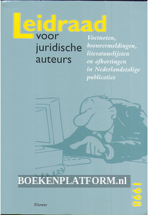 Leidraad voor juridische auteur