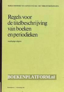 Regels voor de titelbeschrijving van boeken en periodieken