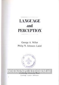 Language and Perception