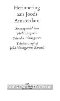 Herinnering aan Joods Amsterdam
