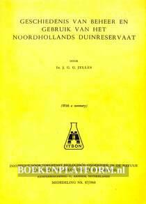 Geschiedenis van beheer en gebruik van het Noordhollands duinreservaat