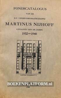 Fondscatalogus Martinus Nijhoff 1932-1940