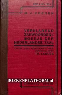 Verklarend zakwoordenboekje der Nederlandse taal