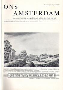 Ons Amsterdam 1971 Ingebonden met originele band
