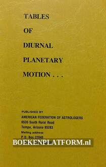 Tables of Diurnal Planetary Motion...