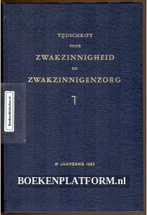 Tijdschrift voor Zwakzinnigheid en Zwakzinnigen zorg 1965