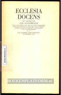 Ecclesia Docens De toespraak Col Sentimento