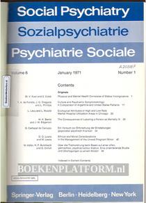 Social Psychiatry 1971