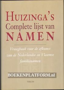 Huizinga's complete lijst van namen