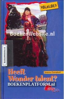 Heeft Wonder talent?