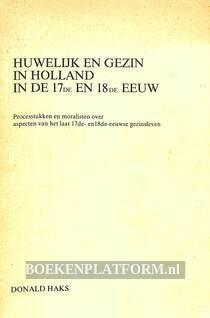 Huwelijk en gezin in Holland in de 17e en 18e eeuw
