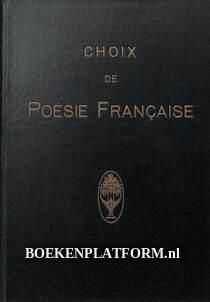 Choix de poësie Francaise