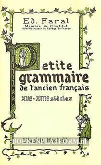Petite grammaire de l'ancien francais