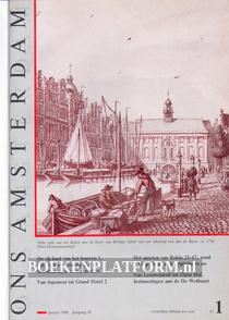 Ons Amsterdam 1988 Ingebonden met orginele band