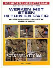 Werken met steen in tuin en patio