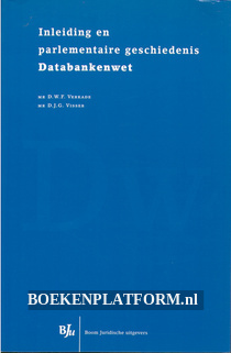 Inleiding parlementaire geschiedenis Databankenwet