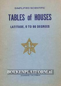 Tables of Houses