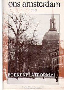 Ons Amsterdam 1985 Ingebonden met orginele band