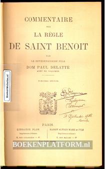 Commentaire sur La Regle De Saint Benoit