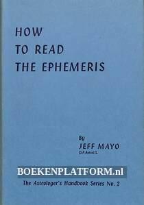 How to Read the Ephemeris