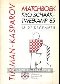 Matchboek KRO Schaaktweekamp '85