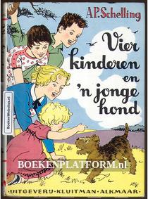 Vier kinderen en 'n jonge hond