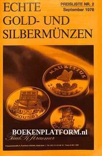 Echte Gold- und Silbermünzen
