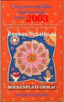 Uw persoonlijke horoscoop voor 2003