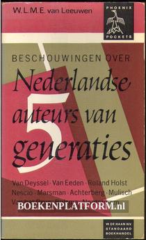 Beschouwingen over Nederlandse auteurs van generaties