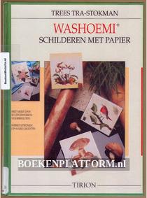 Washoemi schilderen met papier