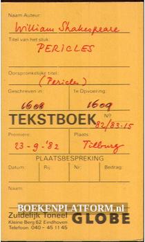 Tekstboek Pericles