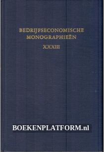 Bedrijfs-economische monographieen XXXIII