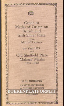 Guide to Marks of Origin on British and Irish Silver Plate
