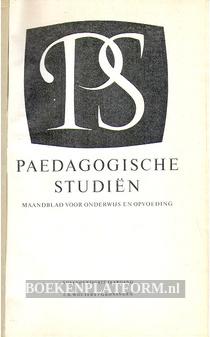 Paedagogische studien 1958