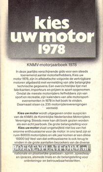 Kies uw motor 1978