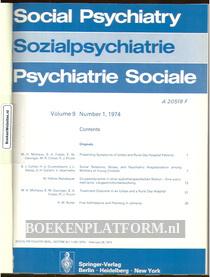 Social Psychiatry 1974