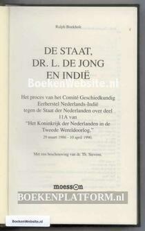 De Staat, Dr. L. de Jong en Indie