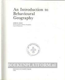 An Introduction to Behavioural Geography