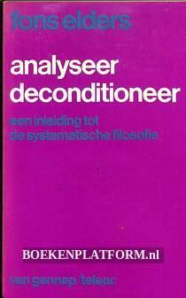 Analyseer deconditioneer