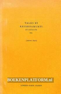 Talks by Krishnamurti in Europe 1966