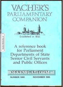 Vacher's Parliamentary Companion 1995