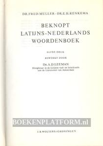 Beknopt Latijns-Nederlands woordenboek