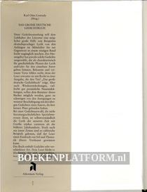 Das grosse deutsche Gedichtbuch