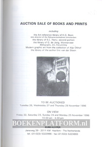 Auction Sale of Books and Prints 11-1996