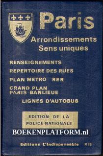 Paris Arrondissements Sens uniques