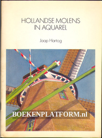Hollandse molens in aquarel