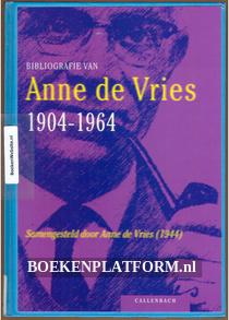 Bibliografie van Anne de Vries 1904-1964