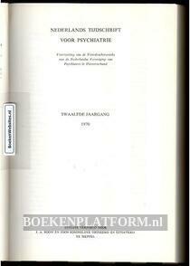 Nederlands tijdschrift voor psychiatrie 1970