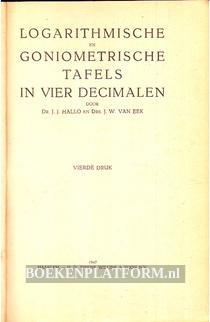 Logarithmische, Goniometrische tafels in vier decimalen