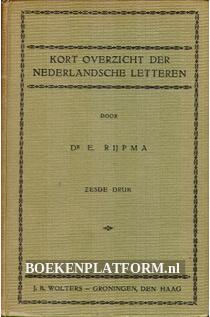 Kort overzicht der Nederlandsche letteren